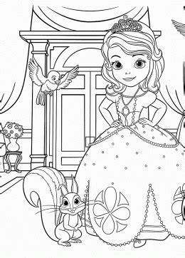 Sofia The First Princess Sofia Coloring Pages For Girls Princess Sofia Coloring Pics