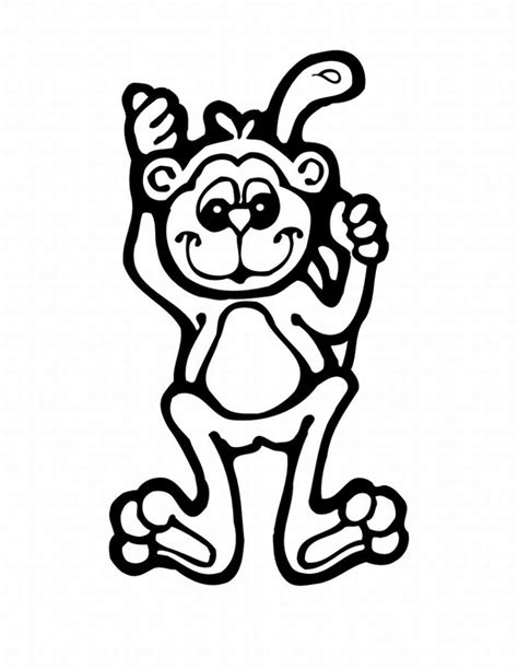 color monkey free printable monkey coloring pages for
