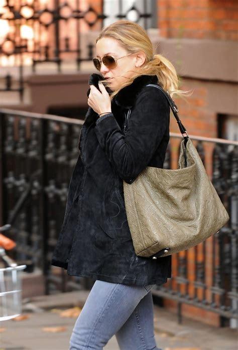 Kate Hudsons Chanel Handbag by Kate Hudson Leather Shoulder Bag Kate Hudson Handbags