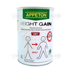 Penggemuk Badan Weight Gain jual beli appeton weight gain dws 450gr coklat k24klik