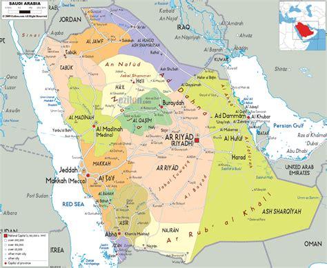 political map of saudi arabia political map of saudi arabia ezilon maps