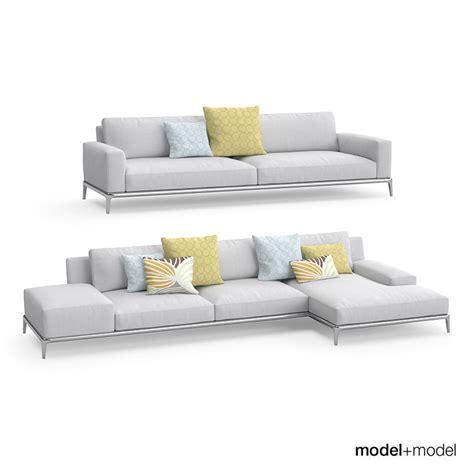 3d sofa poliform park sofa 3d model