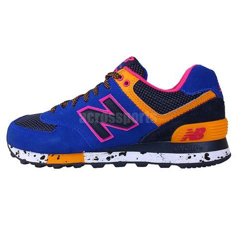 new balance ml574bo d blue orange pink 2014 mens running