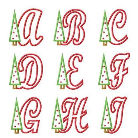 christmas tree applique font