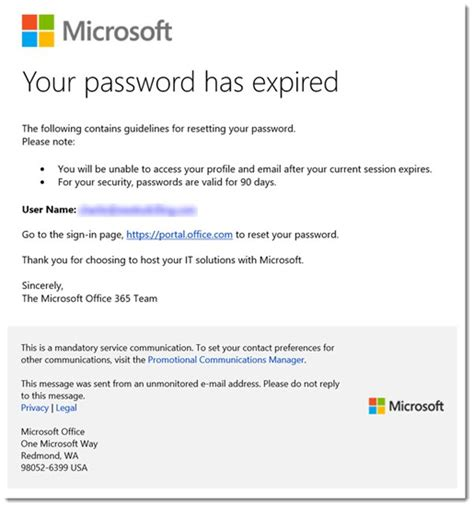 Office 365 Your Password Has Expired Security Warning The Bad S Get Smarter And Learn