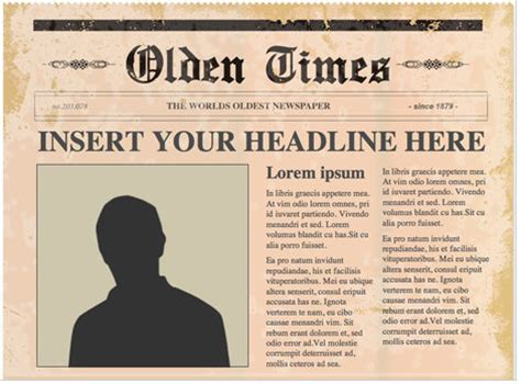 free newspaper template for word free powerpoint newspaper templates turns you into an