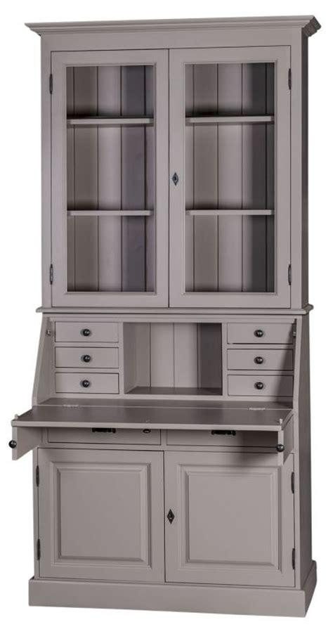 meuble haut bureau bureau secr 233 taire haut vitr 233 finition patine et