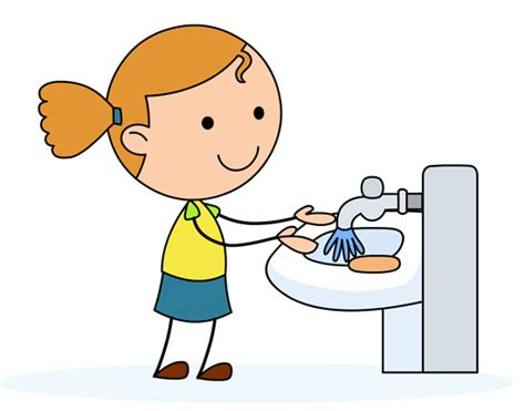 Do You Have To Wash Hair Before Coloring - health washing hands in a sink classroom clipart