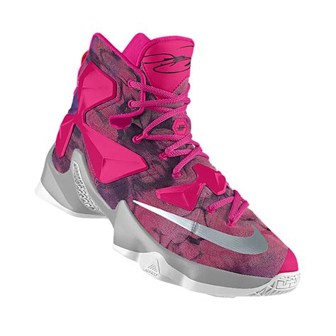 pink nike basketball shoes womens grey pink womens nike lebron 13 shoes