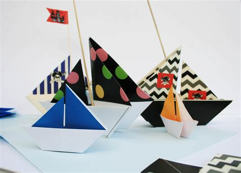 How To Make A Pirate Ship With Paper - ship shapes origami pirate ships wantsum works