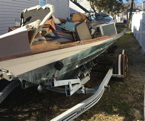 junk boat salvage junk boat removal ocean county dumpsters and junk