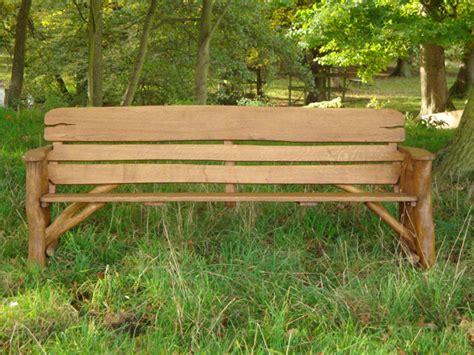Memorial Benches Rustic Oak Bench 2200