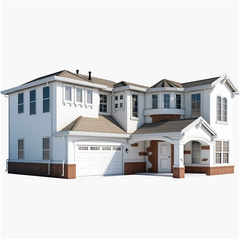 3d house mcmansion house 3d max