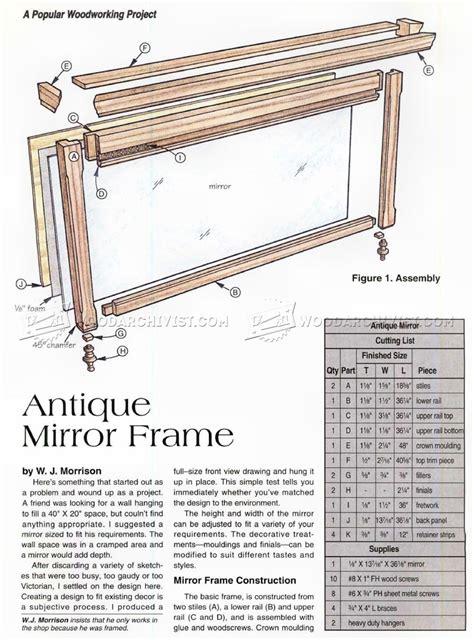 picture frame woodworking plans antique mirror frame plans woodarchivist