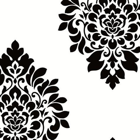 Black And White Damask L Shade Bedroom by Dimensional Damask Wallpaper Lelands Wallpaper