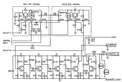 frequency synthesizer circuit diagram vco for frequency synthesizer basic circuit circuit