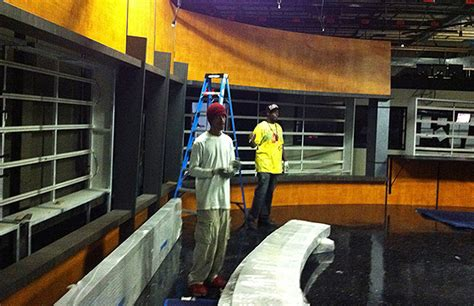 devlin design group our work devlin design group harrisburg cbs begins hd set installation newscaststudio