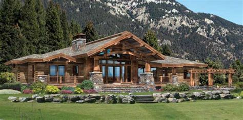 wood river log home plan by precisioncraft log timber
