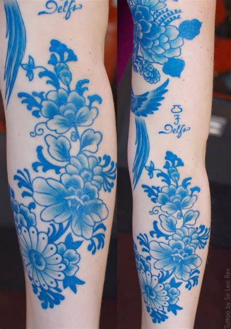 tattoo blue pretty delfi blue flowers tattoos jpg
