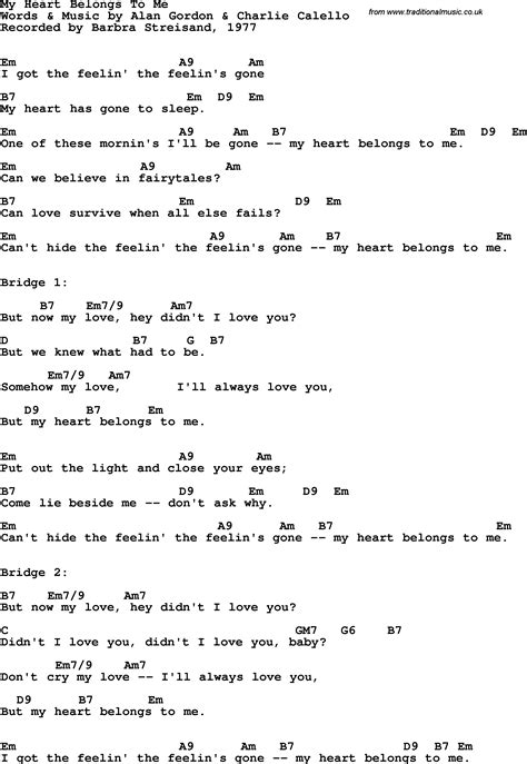 song lyrics with guitar chords for my belongs to me