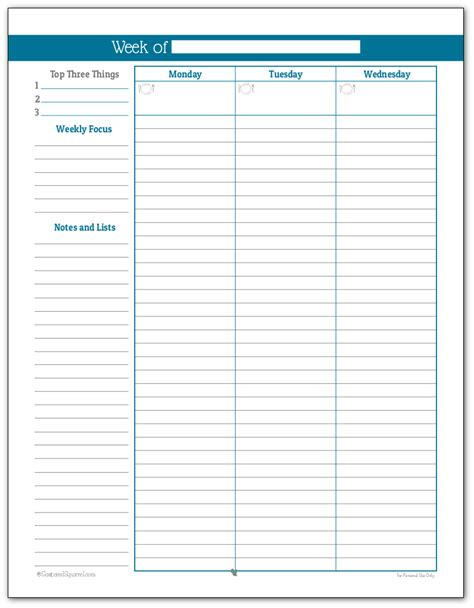 printable daily planner for 2016 simple weekly planner printables