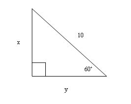 Sqrt 261 find the exact value of side x enotes