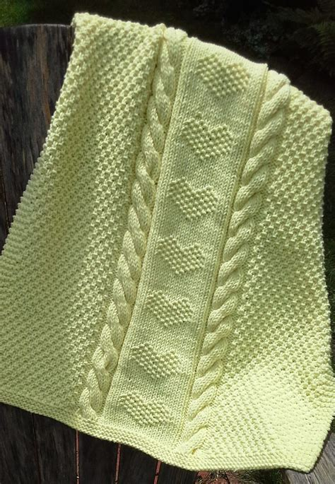 Knitted Baby Blankets Pattern by Baby Blanket Knitting Patterns In The Loop Knitting