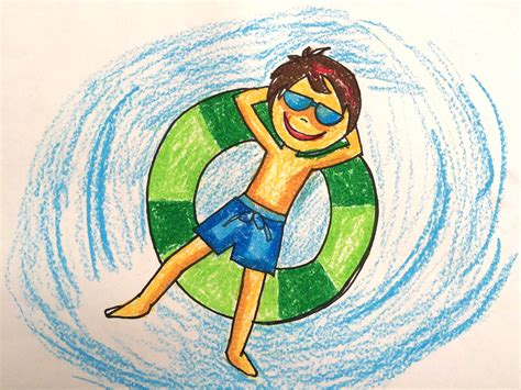 Painting Summer For Kids How To Draw Swimming Pool Fun 2 Art For Kids Youtube Children Drawing Pictures For Painting