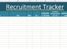 Recruitment Tracker Template by Management Templates Microsoft Excel Templates
