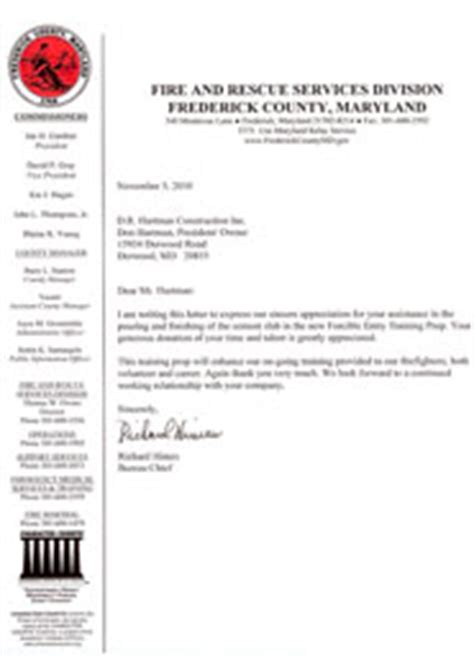 Fundraising Letter Department Reviews Of D R Hartman Construction Reviews Of Maryland Contractor