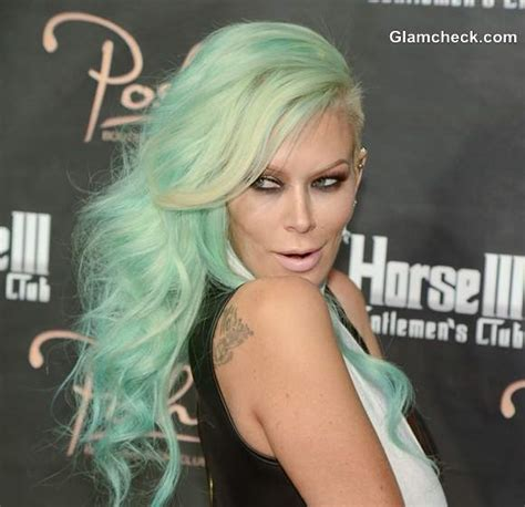 Jenna Jameson Celebrates Birthday With Sea Foam Green Hair Color | jenna jameson celebrates birthday with sea foam green hair