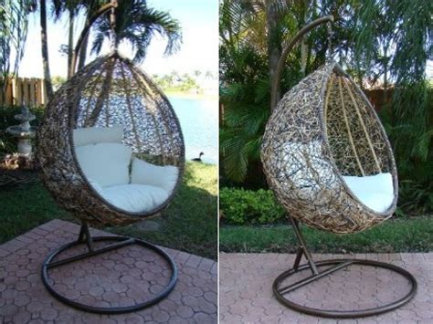 swinging chairs outdoor the trully outdoor wicker swing chair