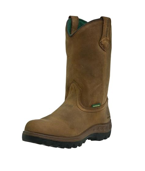 deere work boots mens leather waterproof wellington