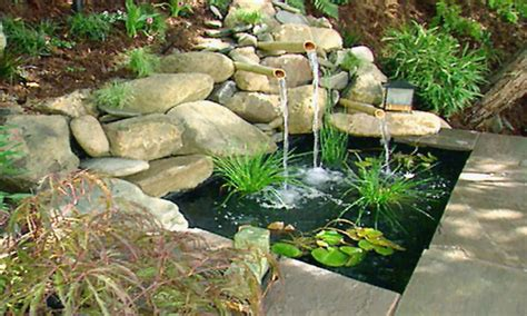 Small Backyard Water Feature Ideas Best Garden Ponds Small Backyard Water Fountains Ideas Small Back Yard Landscape