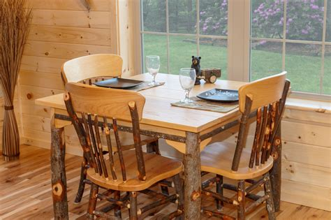 log cabin dining room furniture hickory dining room furniture rustic dining furniture