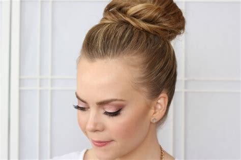 round bun for hair styles formal hairstyles see what s trendy this year