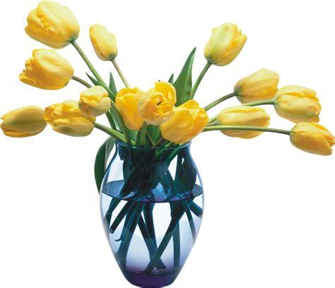 Aksesona Anting Flower Tulip Gold White Transparent vase png images free