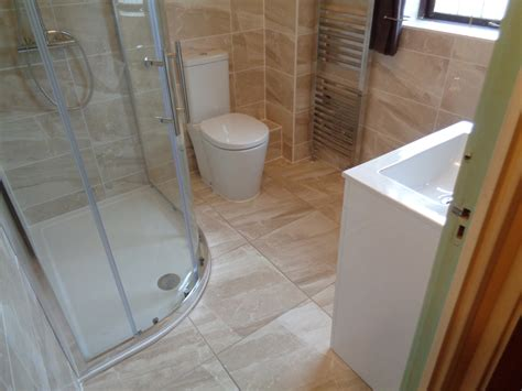Secret Shower by Bathroom Converted To Shower Room Tiled With Pipes