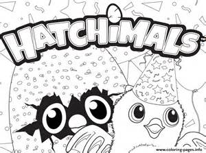 Hatchy Hatchimals Logo Coloring Pages Free Printable sketch template