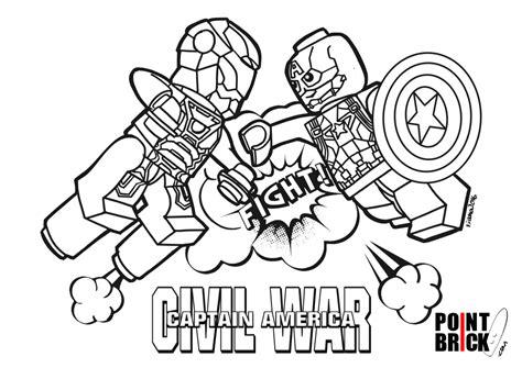 Point Brick Blog Disegni Da Colorare Lego Marvel Civil Captain America Civil War Coloring Pages