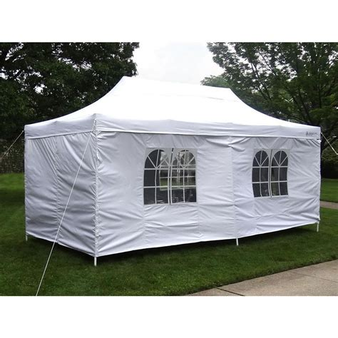 Steel Frame Canopy Gigatent Tent Deluxe 10 Ft X 20 Ft Accordion Steel