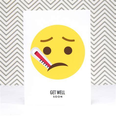 card emoji emoji get well soon card by of lemons