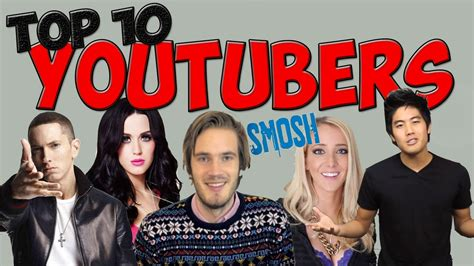 best youtubers top 10 most subscribed youtubers of 2014