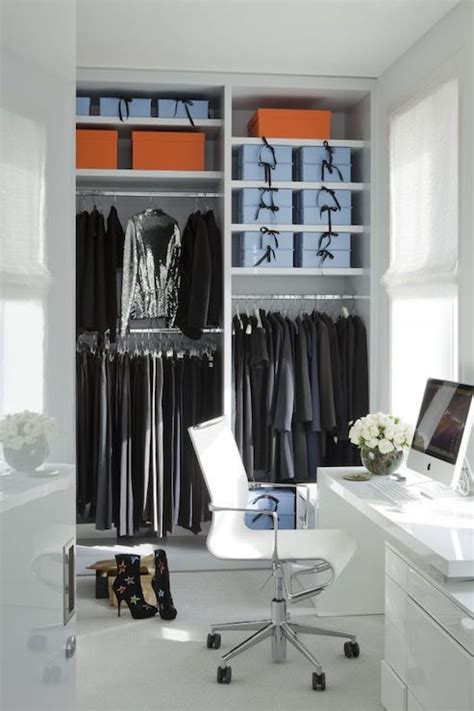 Desk In Walk In Closet Contemporary Closet