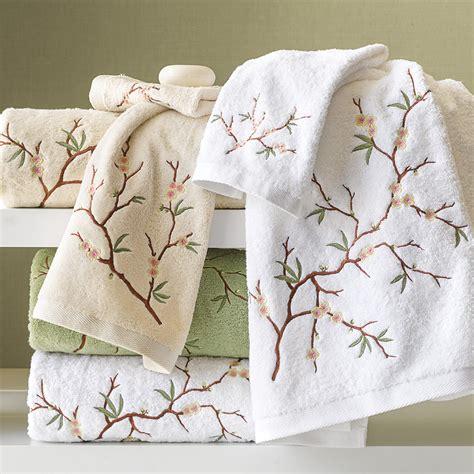 cherry blossom bathroom set cherry blossom towels gump s