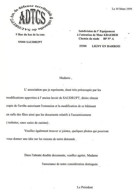 Un Exemple De Lettre Administrative Exemple De Lettre Administrative Gratuite