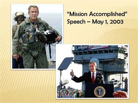 Mission Accomplished 1 iraq saddam hussein rule july 16 april 3 ppt