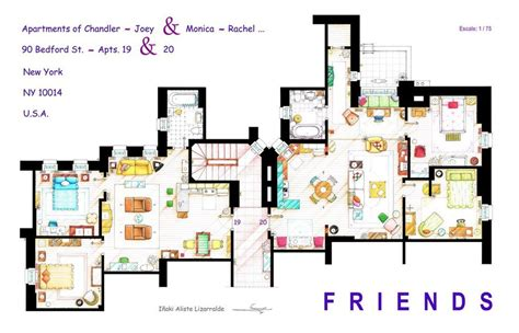 floor plans of tv show houses 13 incredibly detailed floor plans of the most tv show homes