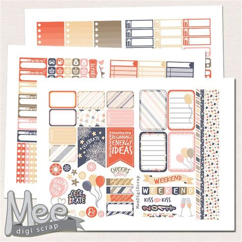 printable new year s stickers 2017 new years planner stickers printable for use in mambi
