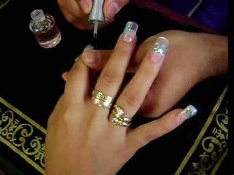 fotos de uñas acrilicas para niñas u 209 as con concha nacar azul turqueza youtube